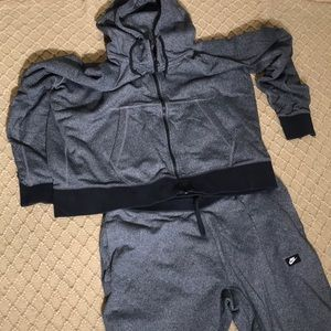 Nike matching joggers and a hoodie